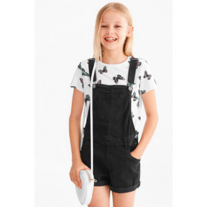 Dungaree & Tee Set